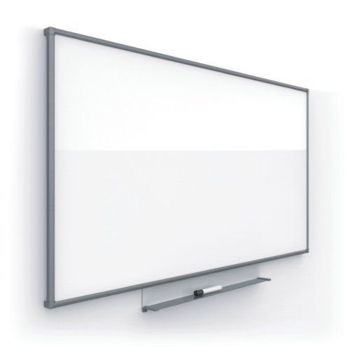 "Quartet Silhouette 74"" x 42"" Nano-Clean Magnetic Whiteboard with Charcoal Aluminum Frame (QRT-CM7442C) Image 1"