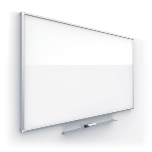 "Quartet Silhouette 74"" x 42"" Nano-Clean Magnetic Whiteboard with Silver Aluminum Frame (QRT-CM7442)"