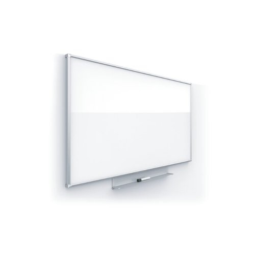 "Quartet Silhouette Porcelain 74"" x 42"" Magnetic Whiteboard With Silver Aluminum Frame (QRT-CP7442) Image 1"