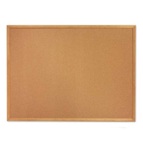 Quartet Standard Cork Bulletin Boards with Oak Frame (QRT-30) Image 1