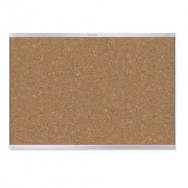 Quartet Prestige Magnetic Cork Bulletin Boards with Silver Frame (QRT-MCBBSF) Image 1
