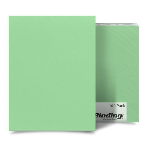 "Quiet Kiwi 8.5"" x 14"" Card Stock Covers - 100pk (MYCS8.5X14KW) Image 1"