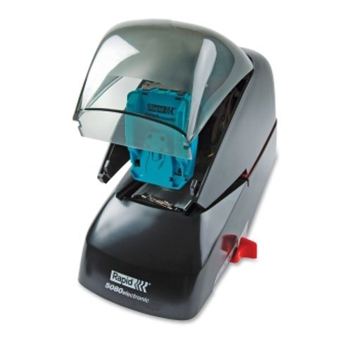 Rapid 5080e Black/Smoke Flat Clinch Electric Stapler (RPD90147), Rapid Image 1