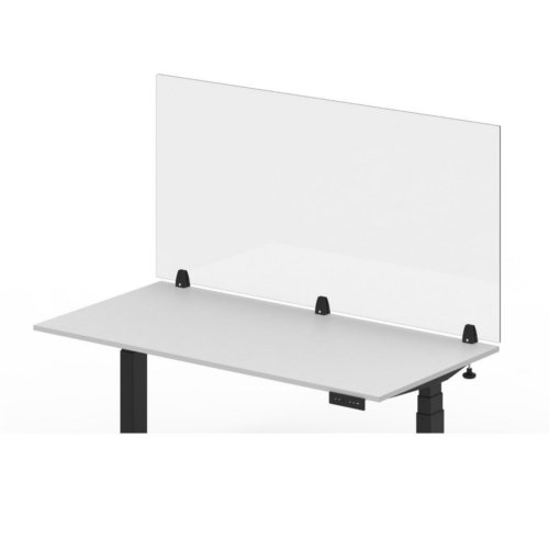 Luxor RECLAIM Clear Acrylic Clamp-On Sneeze Guard Desk Dividers (DIVCLC) Image 1