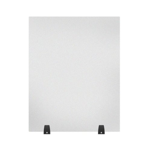 "Luxor RECLAIM Frosted Acrylic 24"" x 30"" Tabletop Sneeze Guard Desk Divider (DIVTT-2430F) Image 1"