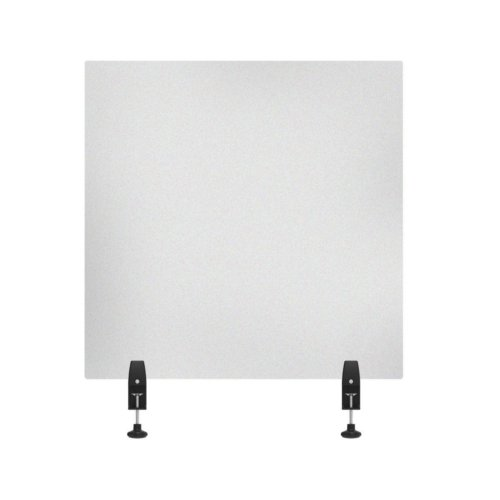 """Luxor RECLAIM Frosted Acrylic 30"""" x 30"""" Clamp-On Sneeze Guard Desk Divider (DIVCL-3030F) Image 1"""