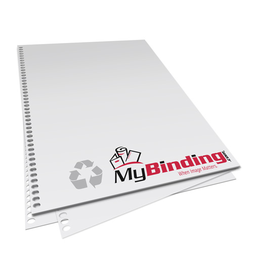 32lb 4:1 Coil 44-Oval Hole Pre-Punched Recycled Binding Paper (MY3244HOP.25PRBP), Binding Supplies Image 1