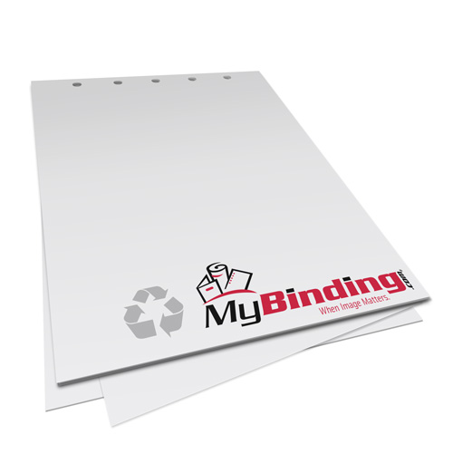 "20lb 8.5"" x 11"" 5 Hole Top Recycled Punched Paper - 500 Sheets (MY8.5X115HTRPP20RM) Image 1"