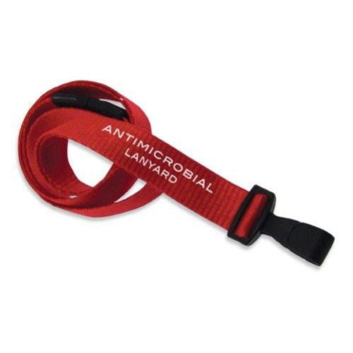 Red Anti-Microbial Break-Away Lanyard with Plastic Hook - 100pk (2136-3407) - $82 Image 1