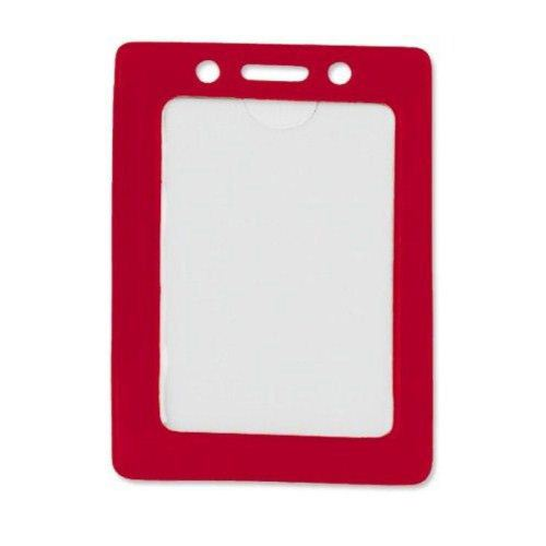 Red Credit Card Size Vertical Colored Frame Badge Holders - 100pk (1820-3006) Image 1
