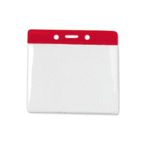 Red Extra Large Horizontal Color-Bar Badge Holders - 100pk (1820-1206) Image 1