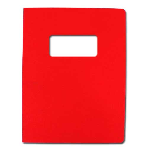 "16mil Red Leather Grain Poly 8.75"" x 11.25"" Covers With Windows (50 sets) (AKCLT16CRRD01W) - $80.74 Image 1"