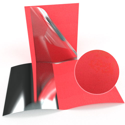 "1-1/2"" Red Leatherette Regency Clear Front Thermal Covers - 100pk (SO800T112RDC) Image 1"