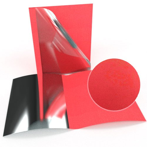 """3/8"""" Red Leatherette Regency Clear Front Thermal Covers - 100pk (SO800T380RDC) - $169.84 Image 1"""
