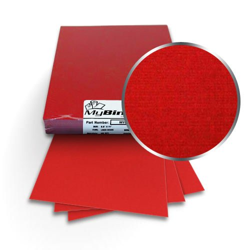 "Red Linen 11"" x 17"" Covers - 100pk (MYLC11X17RD) Image 1"
