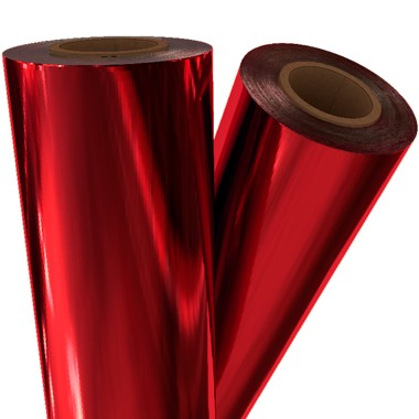 "Red Metallic 12"" x 100' Laminating / Toner Fusing Foil (RED-45-12) Image 1"