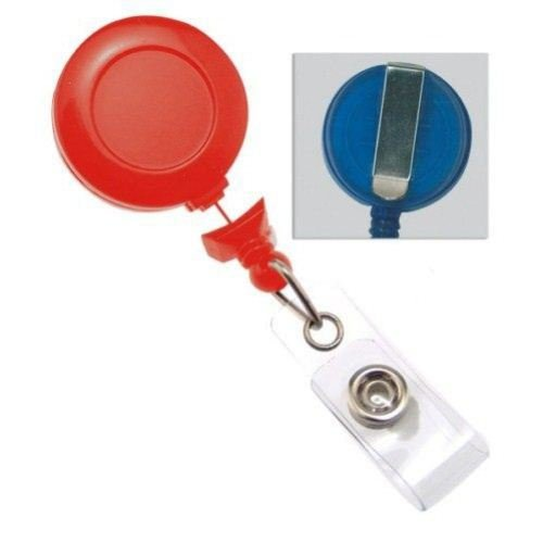 Red No-Twist Badge Reel with Belt Clip - 25pk (2120-3057)