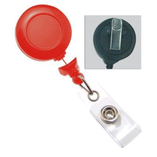 Red No-Twist Badge Reel with Swivel Clip - 25pk (2120-7644)