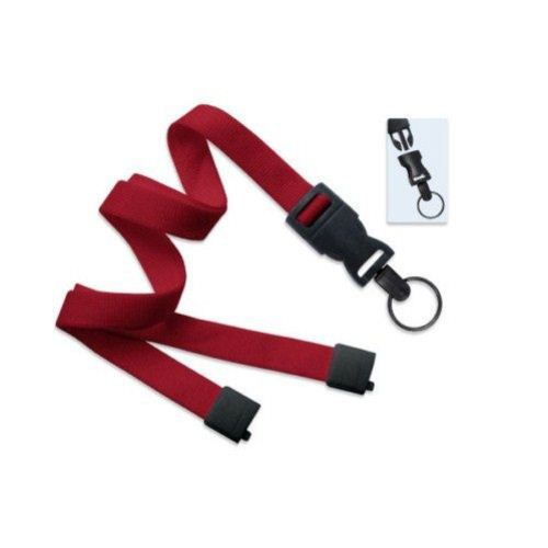 Red Optiweave Break-Away Lanyard with DTACH Split Ring - 100pk (2135-4688) Image 1