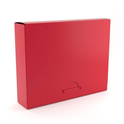 "1"" Letter Red Poly Document Boxes (MYPDB100RD) Image 1"