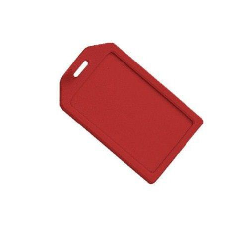 Red Rigid Plastic Heavy Duty Luggage Tag Holders - 100pk (1840-6206) Image 1