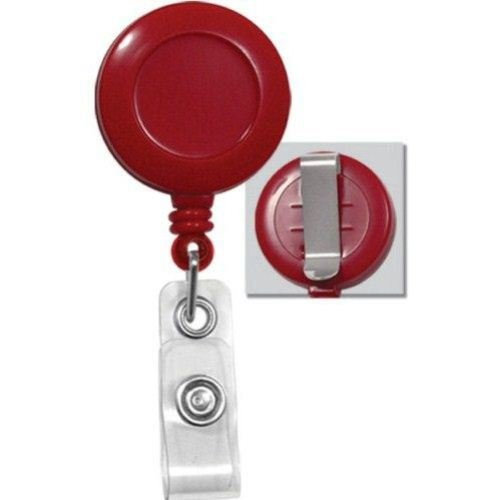 Red Round Badge Reel Image 1