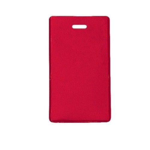 Red Semi-Rigid Vinyl Luggage Tag Holders - 100pk (1845-2006) Image 1