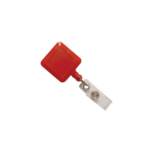 Red Square Badge Reel with Slide Clip - 25pk (MYID530IRED) - $24.59 Image 1