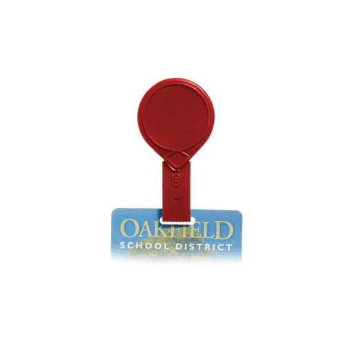 Red Twist-Free Mini-Bak Badge Reel with Belt Clip - 25pk (505-MF-RED) Image 1