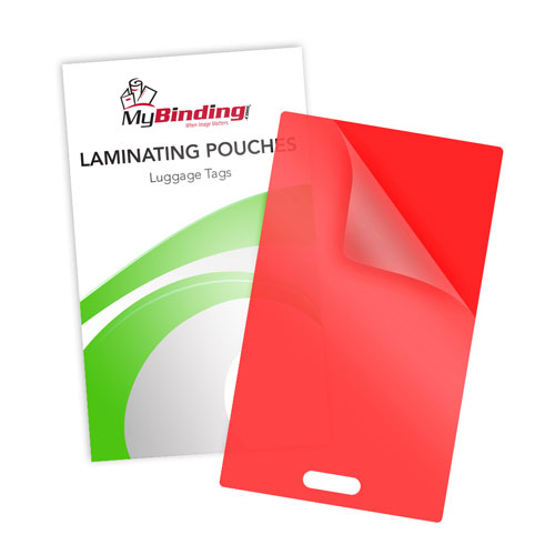 Red 10mil Luggage Tag With Slot Laminating Pouches - 100pk (LKLP10LUGGAGEWSRD) Image 1