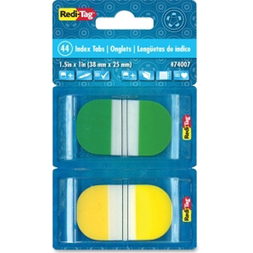 Redi-Tag Assorted Color Pop-up Write-on Self-Stick Index Tabs - 44pk (RTG-74007) Image 1