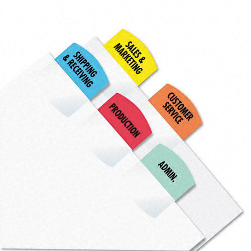 Redi-Tag Assorted Laser Printable Index Tabs - 1pk (1oo Tabs/Pack) (RTG-33120) Image 1