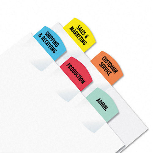 Redi-Tag Assorted Laser Printable Index Tabs - 1pk (375 Tabs/Pack) (RTG-39020), Redi-Tag Image 1