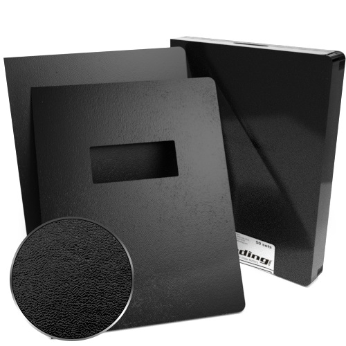 "8.75"" x 11.25"" Regency Leatherette Covers with Windows - 100 Sets (MYRC8.75X11.25W) Image 1"