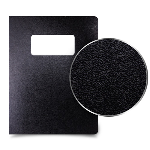 Black Leatherette Binding Covers Image 1