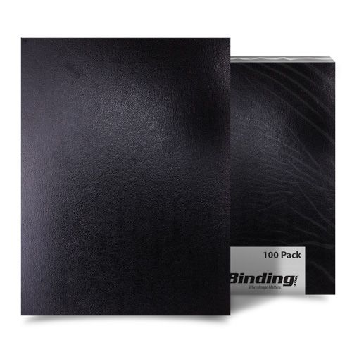 "Black Sedona 17pt 8.75"" x 11.25"" Leatherette Covers (Square Corners) - 100pk (03SEDONABKSQ) Image 1"
