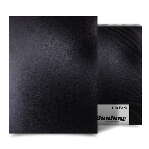 "Black 9"" x 11"" Regency Leatherette Covers - 100pk (FM8001B) Image 1"