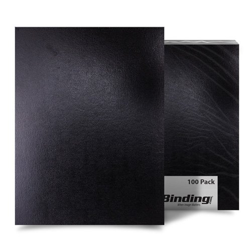 "Black 8.5"" x 11"" Regency Leatherette Vinyl Covers - 100pk (FM8001A) Image 1"