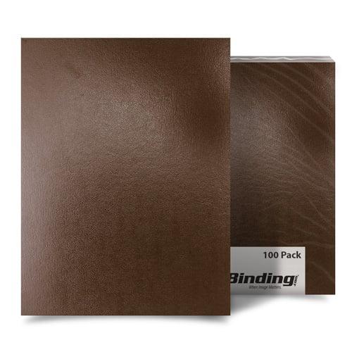 "Brown 8"" x 8"" Regency Leatherette Covers - 100pk (MYRC8X8BR) Image 1"