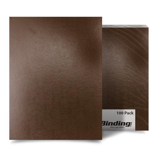 "Brown 8"" x 10"" Regency Leatherette Covers - 100pk (MYRC8X10BR) Image 1"