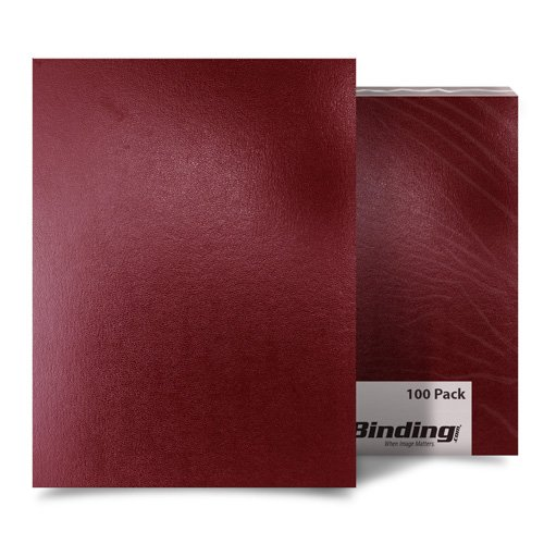 "Maroon 8.5"" x 14"" Regency Leatherette Covers - 100pk (FM8003D) Image 1"