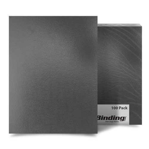 "Dark Gray 9"" x 11"" Regency Leatherette Vinyl Covers - 100pk (FM8009B) Image 1"