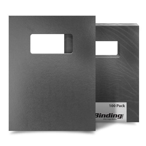 "Dark Gray 8.5"" x 11"" Regency Leatherette Covers with Windows - 100 Sets (MYRC8.5X11DGW), MyBinding brand Image 1"