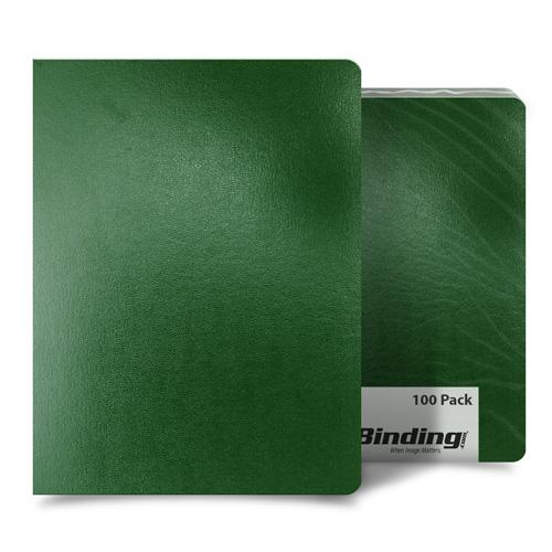 "Green 8.75"" x 11.25"" 15pt Vinyl Binding Covers - 100pk (MYVBC875X1125DGN) Image 1"