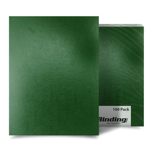 "Green Sedona 17pt 8.75"" x 11.25"" Leatherette Covers (Square Corners) - 100pk (03SEDONAGNSQ) Image 1"