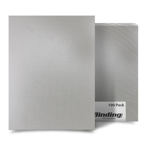 "Light Gray 8.5"" x 11"" Regency Leatherette Covers - 100pk (FM8008A) Image 1"