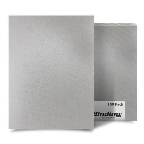 "Light Gray 11"" x 17"" Regency Leatherette Covers - 100pk (SO80011X17LG) Image 1"