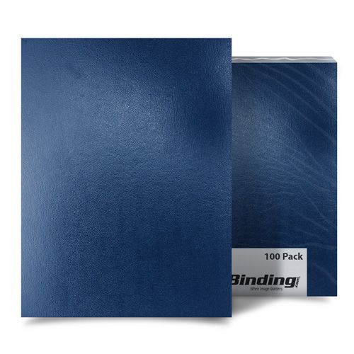 "Navy Blue Sedona 17pt 9"" x 11"" Leatherette Covers - 100pk (03SEDONANACA) Image 1"