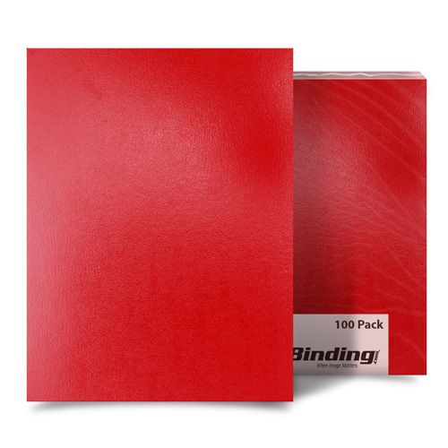 "Red Sedona 17pt 9"" x 11"" Leatherette Covers - 100pk (03SEDONARDCA) Image 1"