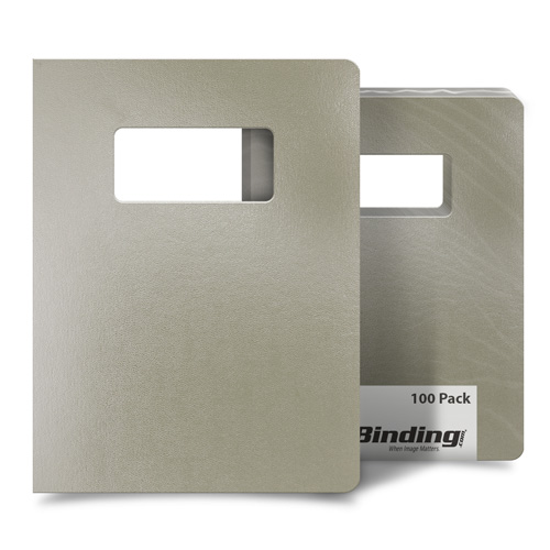 "Tan 8.75"" x 11.25"" Regency Leatherette Vinyl Covers with Windows - 100 Sets (MYRC8.75X11.25IVW), MyBinding brand Image 1"